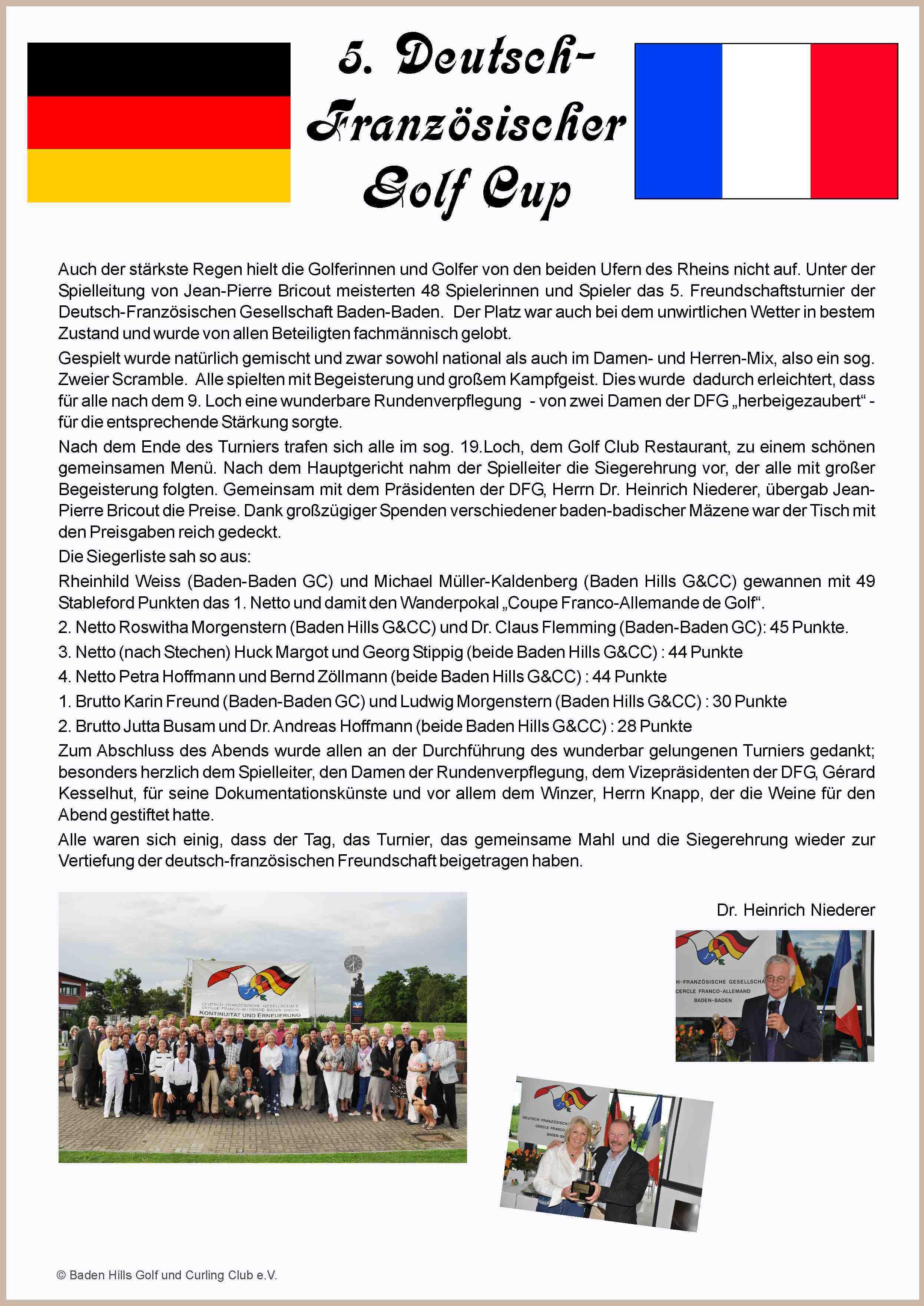 5. Deutsch-Französischer Golf Cup